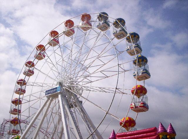 Grampian Eye Big Wheel At Aberdeen Beach
