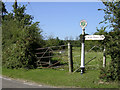 SU3703 : Direction sign at the Leygreen Farm junction of the Beaulieu Road, New Forest by Jim Champion