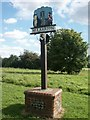 TG1901 : Village sign, Mulbarton by Katy Walters