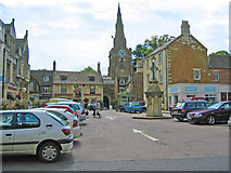 SP8699 : Market Place, Uppingham, Rutland by Kate Jewell