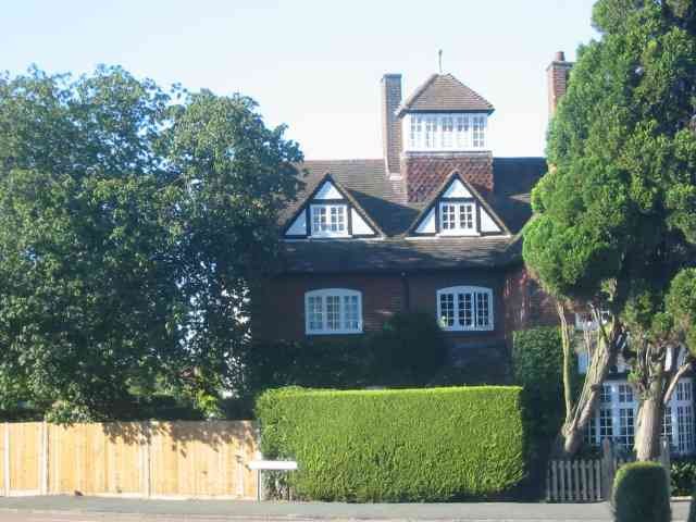 House with Observation room on roof.  Sauncey Ave Harpenden