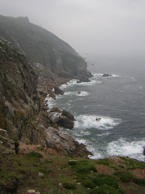 Lundy west coast from the Old battery