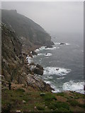 SS1244 : Lundy west coast from the Old battery by Richard Croft