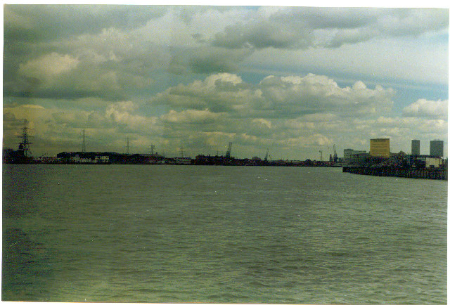 River Thames, downstream from Greenwich.
