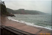 SX9265 : Bad weather at Babbacombe beach by Richard Knights