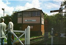 SU3521 : Romsey Signal Box in its new location by Alan Cooper