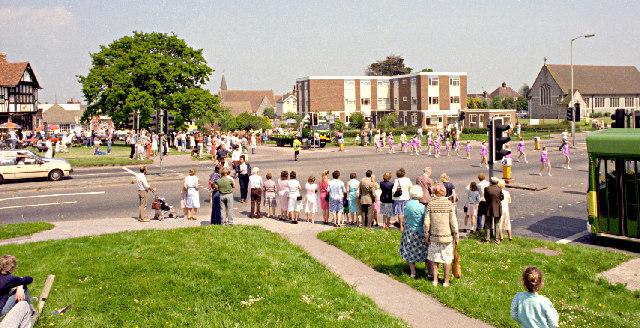 Polegate crossroads and carnival procession