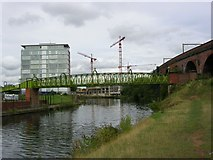 SJ8297 : Woden Street Footbridge by Keith Williamson