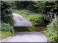 SJ5503 : Ford through Coundmoor Brook by Bob Bowyer