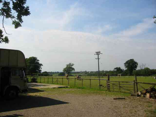 A stud farm  at Slip Lane Corner Rabley Heath