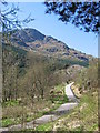 NN2504 : Old Military Road leading to Rest and be Thankful, Argyll by Brian D Osborne