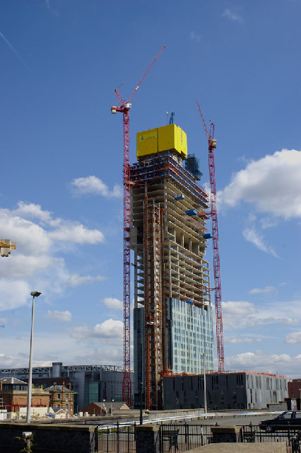 Beetham Tower, 301 Deansgate - under construction