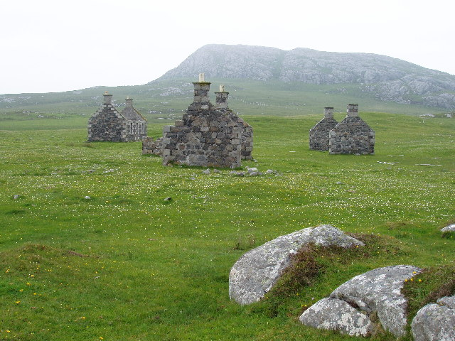 Abandoned village at Eorasdail on Vatersay