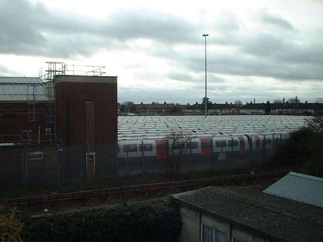 Piccadilly line depot, Northfields, Ealing by Peter Jordan