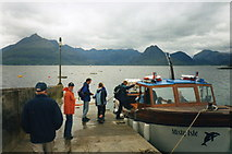 NG5113 : Elgol jetty and Loch Scavaig by S Parish