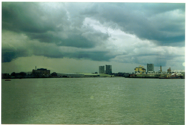 River Thames, east of Greenwich.