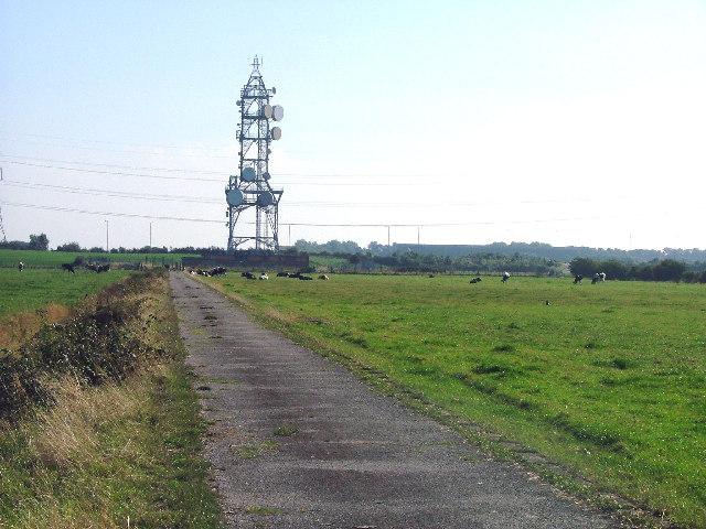 BT microwave radio tower on Heysham Moss. Morecambe, Lancashire.
