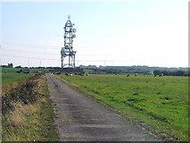 SD4260 : BT microwave radio tower on Heysham Moss. Morecambe, Lancashire. by Ralph Rawlinson