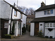 SK2276 : Cottages near Lydgate Graves, Eyam by Dave Dunford