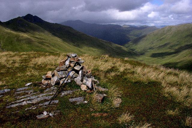 Summit cairn Am Bathach