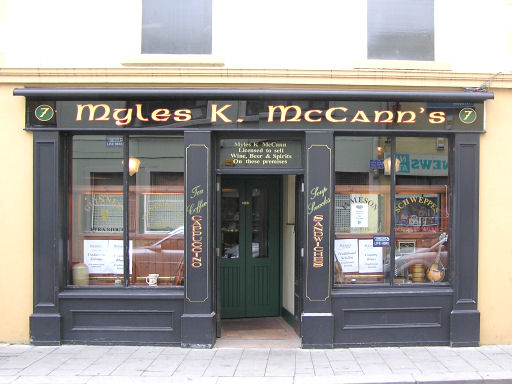 Myles K McCann's Bar, John Street, Omagh by Kenneth  Allen