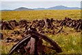 C5440 : Cutting the peat on the side of Lough Fad by Corinna Schleiffer