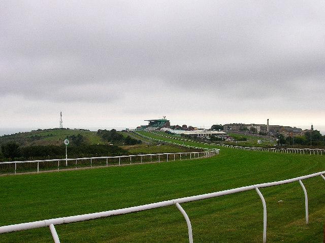 Towards the finishing line, Brighton Racecourse