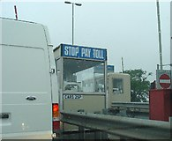 SK8274 : Toll Booth at East end of Dunham Bridge, Lincolnshire by Pete Chapman