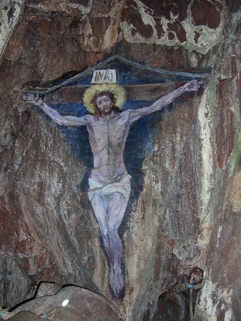 Christ on the Cross - Cave Painting - Davaar Island, Kintyre