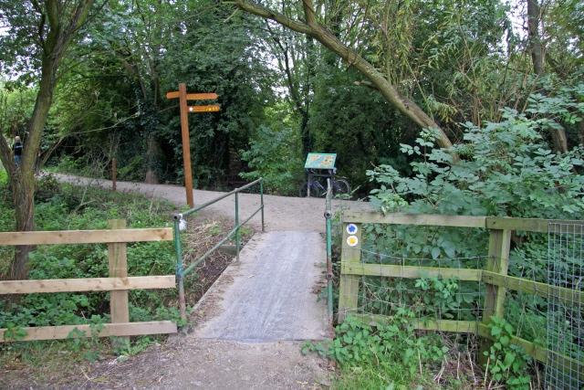 Footbridge into Attenborough Nature Reserve