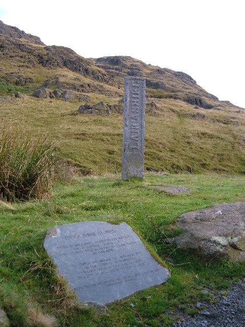 Three Shires Stone,  Wrynose Pass