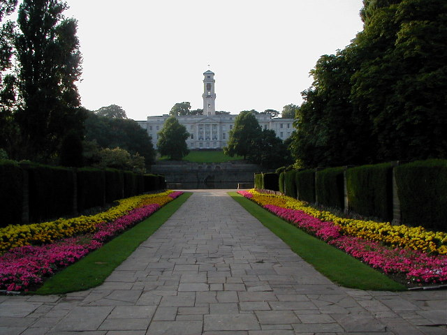 Nottingham University from Highfields Park