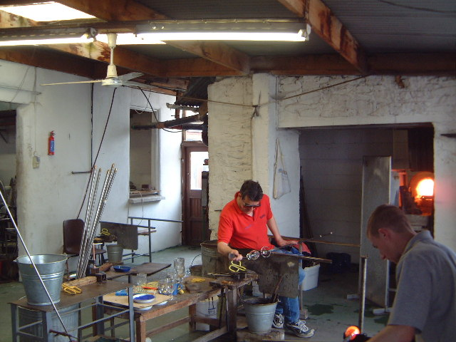 Glass-blowing at Jerpoint Glass