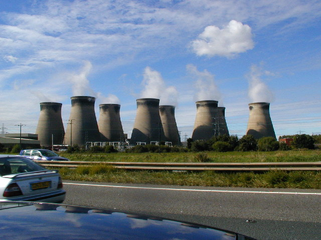 A1 road with Ferrybridge power station in the background
