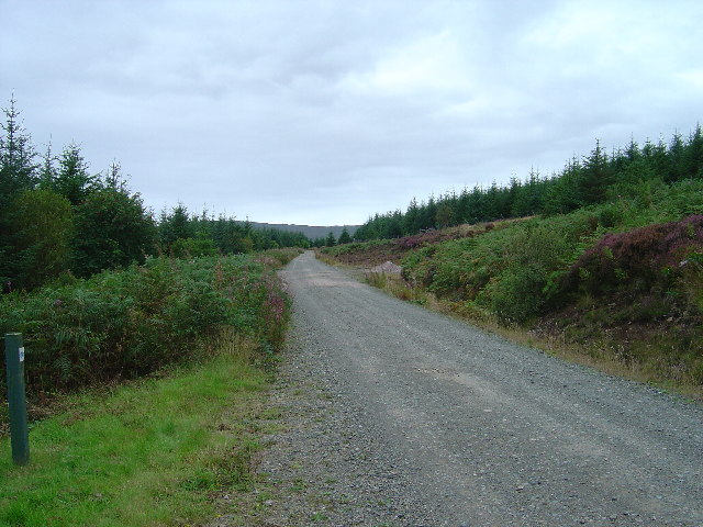 Recreational cycle route near Loch Frisa