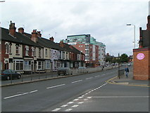 SJ8545 : London Road, Newcastle under Lyme by Linda Mellor