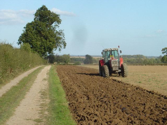 Autumn ploughing