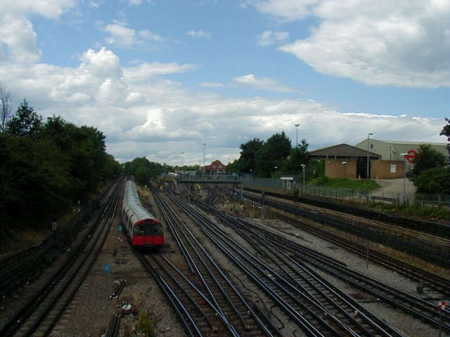 Piccadilly/District Line Junction with Acton Town depot