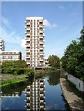 TQ3681 : High Rise & Regents Canal by Glyn Baker