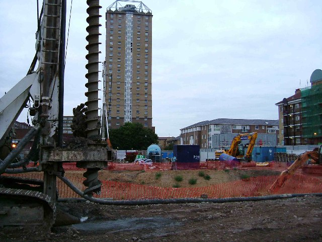 Redevelopment in Shadwell