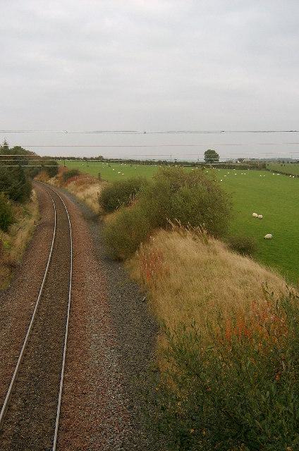 Railway line between Ayr and Auchinleck