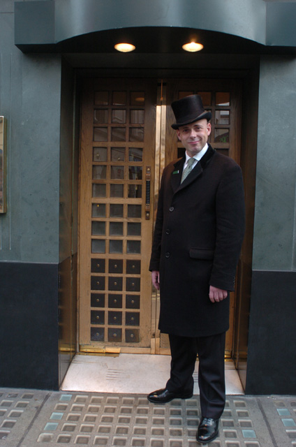 Doorman at 'The Ivy' West Street WC2