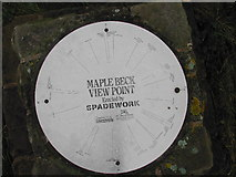 SK7060 : Direction Plate on Maplebeck Viewpoint by Tom Courtney