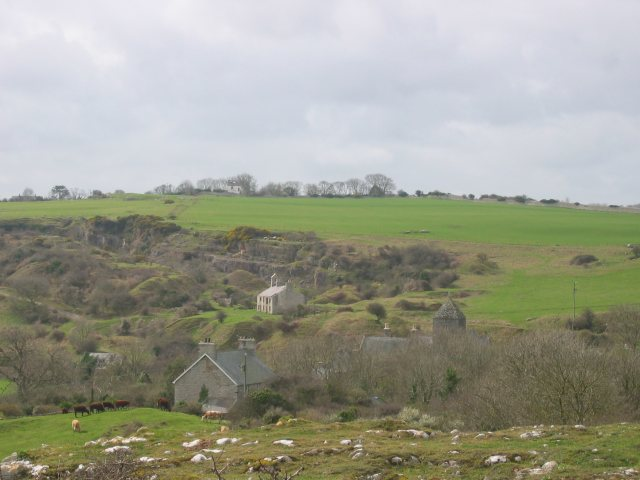 Quarry, schoolhouse and priory, Penmon