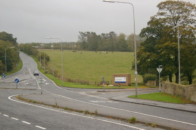 Ayr Hospital entrance