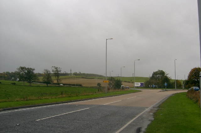 Roundabout near Ayr Hospital