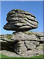SX6685 : Logan stone at Thornworthy Tor by Cathy Cox