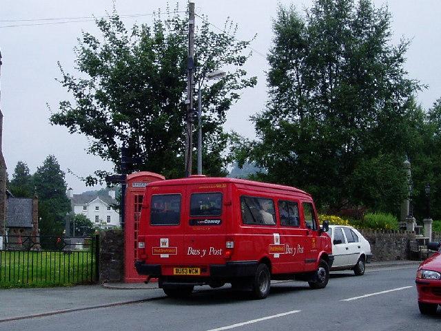 Rural post bus