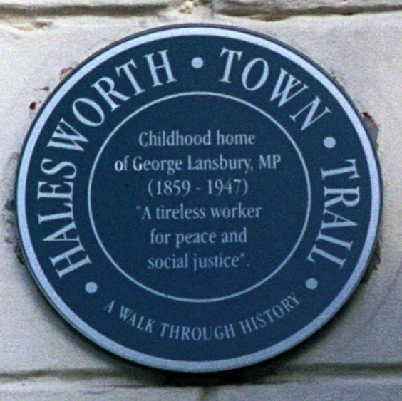 Plaque on home of George Lansbury