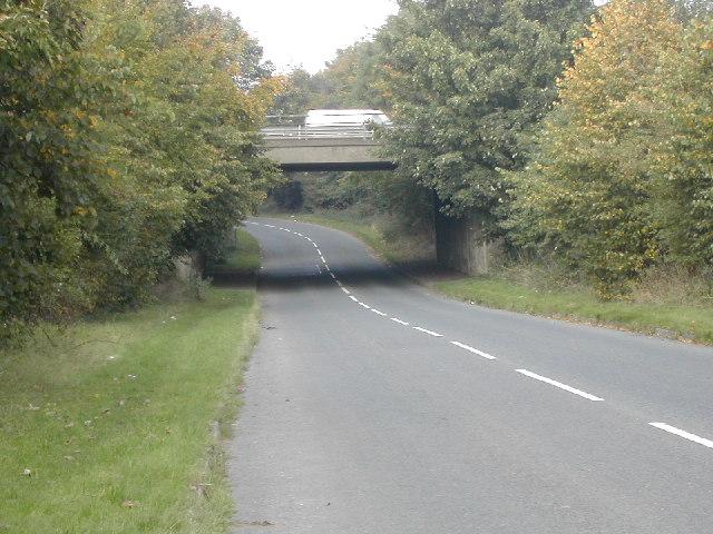 A52 Road Bridge over Hopewell Road near Draycott Derbyshire